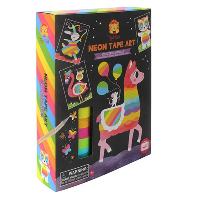 Tiger Tribe Neon Tape Art - Electric Animals   Tiger Tribe