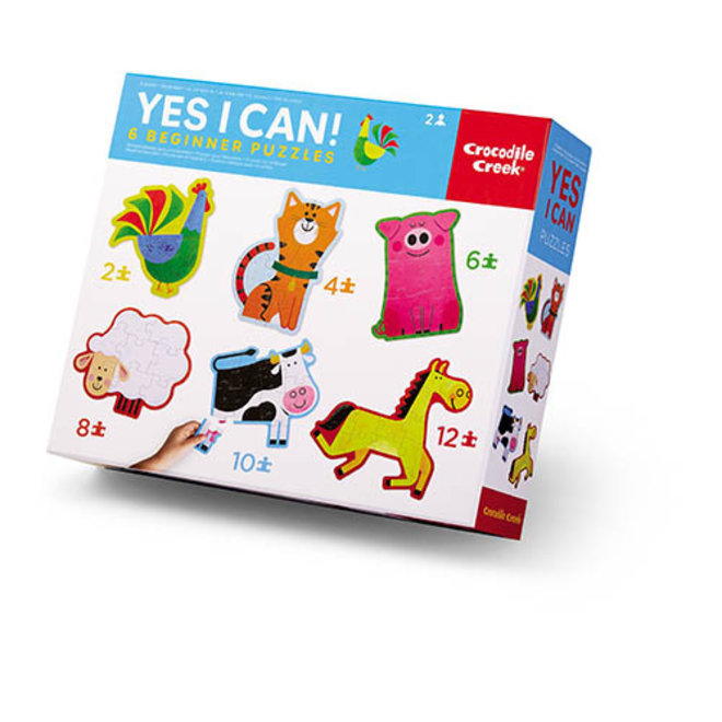 Yes I Can - 6 Beginners Puzzels Boerderij | Crocodile Creek