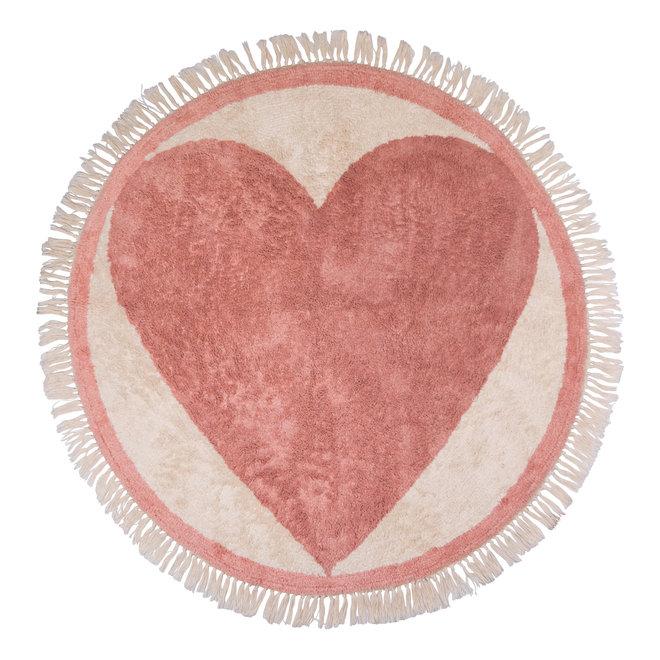 Tapijt Round Heart 120x120cm   Tapis Petit