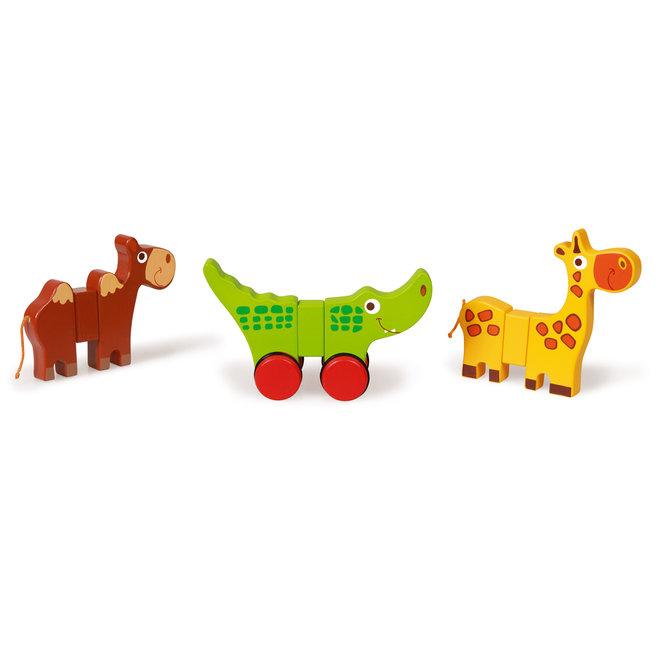 Houten Safaridieren op wielen | Scratch