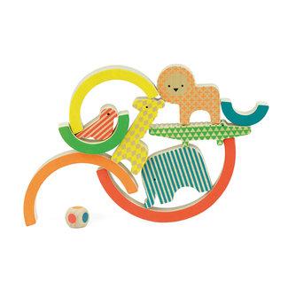 Petit Collage Wild rainbow - houten evenwichtsspel | Petit Collage