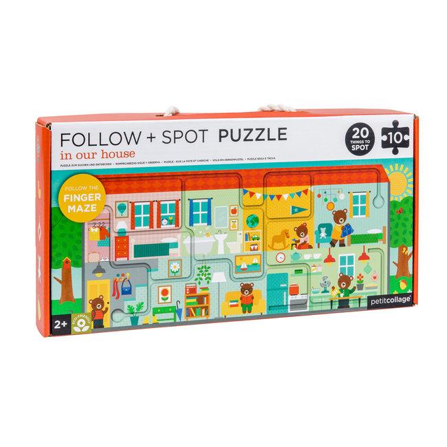 Huis puzzel - Zoek en vind - 10st | Petit Collage