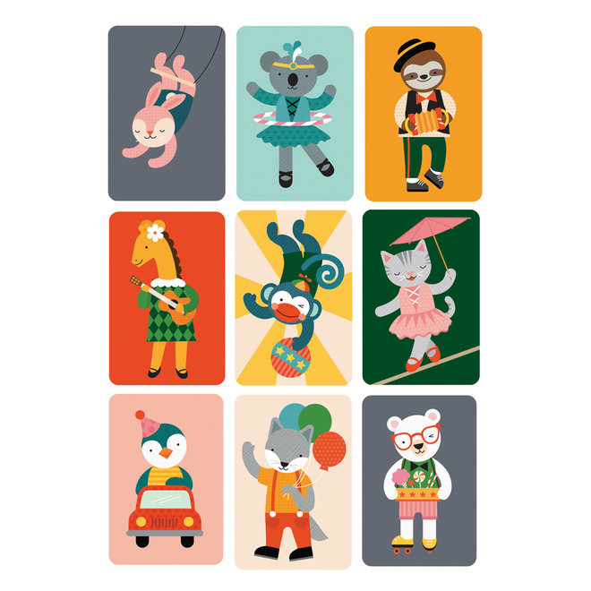 Kaartspel Gekke aap - Voor op reis   Petit Collage