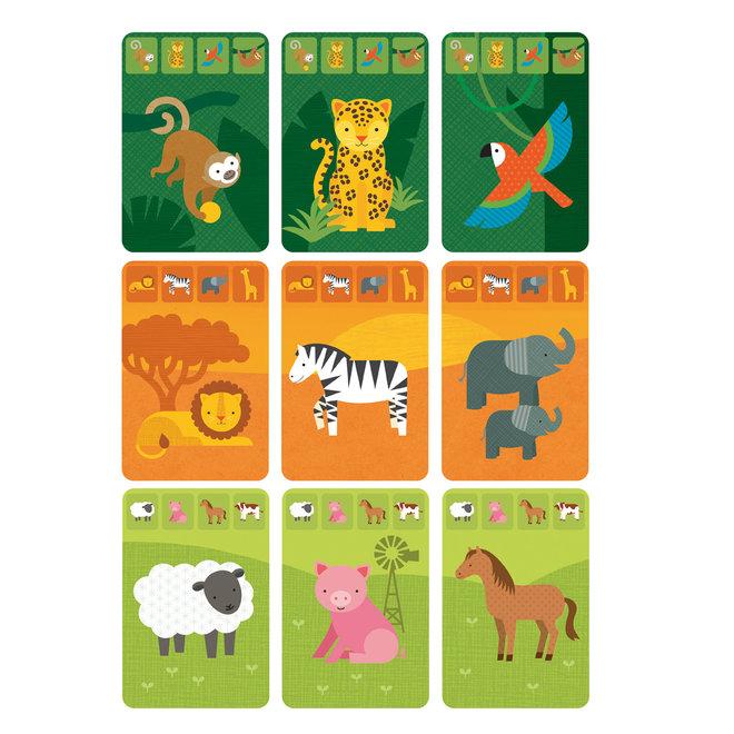 Kaartspel Dierenrijk - Voor op reis | Petit Collage
