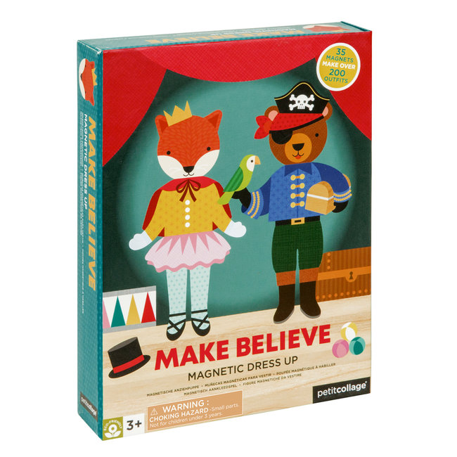 Petit Collage Magneetboek Dressup - Make believe | Petit Collage