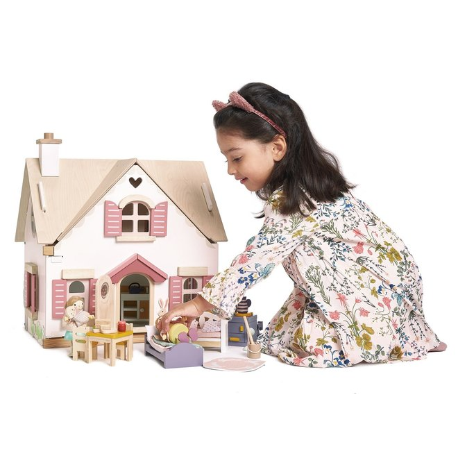 Houten Poppenhuis 'Cottentail' | Tender Leaf Toys