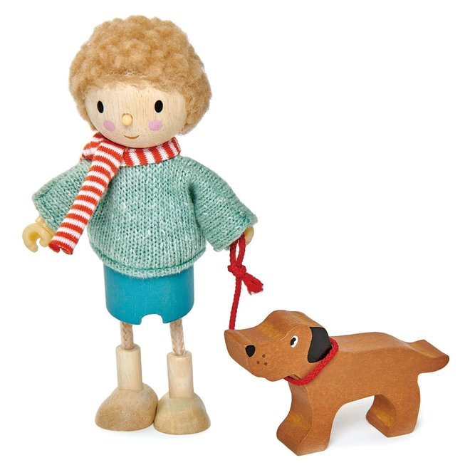 Popje Mr. Goodwood en hond | Tender Leaf Toys