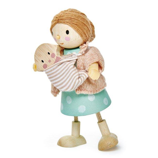 Tender Leaf Toys Popje Mevr. Goodwood en baby | Tender Leaf Toys
