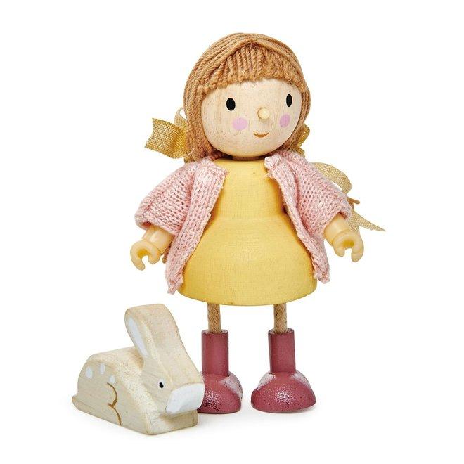 Popje Amy en haar konijn   Tender Leaf Toys