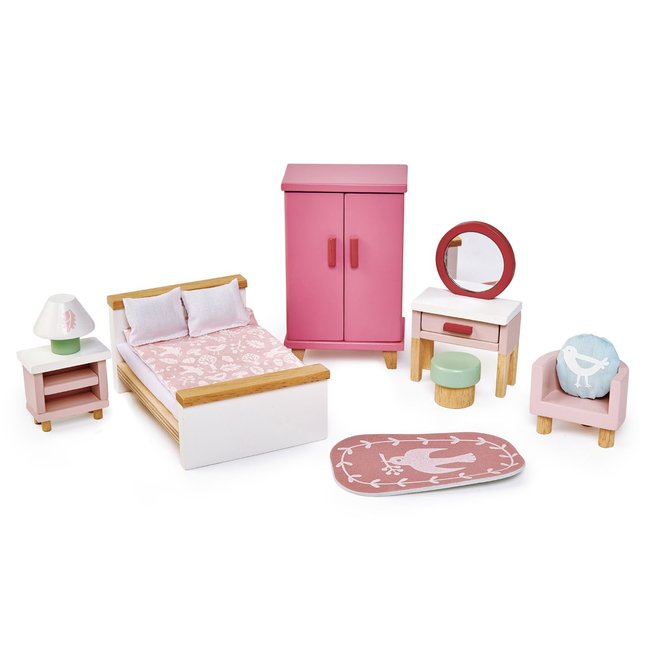 Meubeltjes Slaapkamer Poppenhuis - Tender Leaf Toys