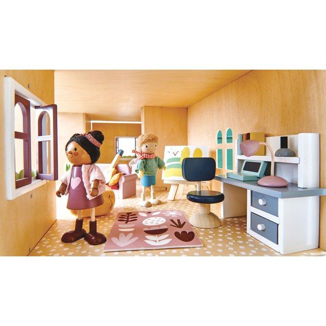 Meubeltjes Slaapkamer – Poppenhuis | Tender Leaf Toys