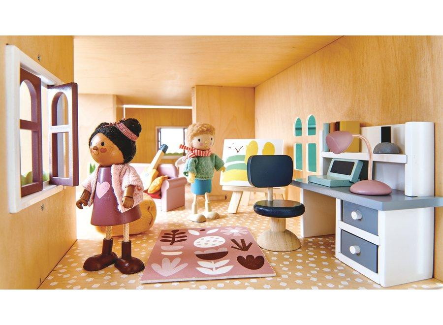 Meubeltjes Slaapkamer – Poppenhuis   Tender Leaf Toys