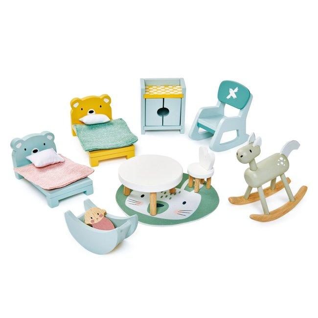 Meubeltjes Kinderkamer – Poppenhuis   Tender Leaf Toys