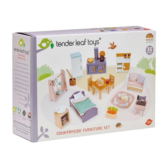 Meubelsetje Countryside – Poppenhuis | Tender Leaf Toys