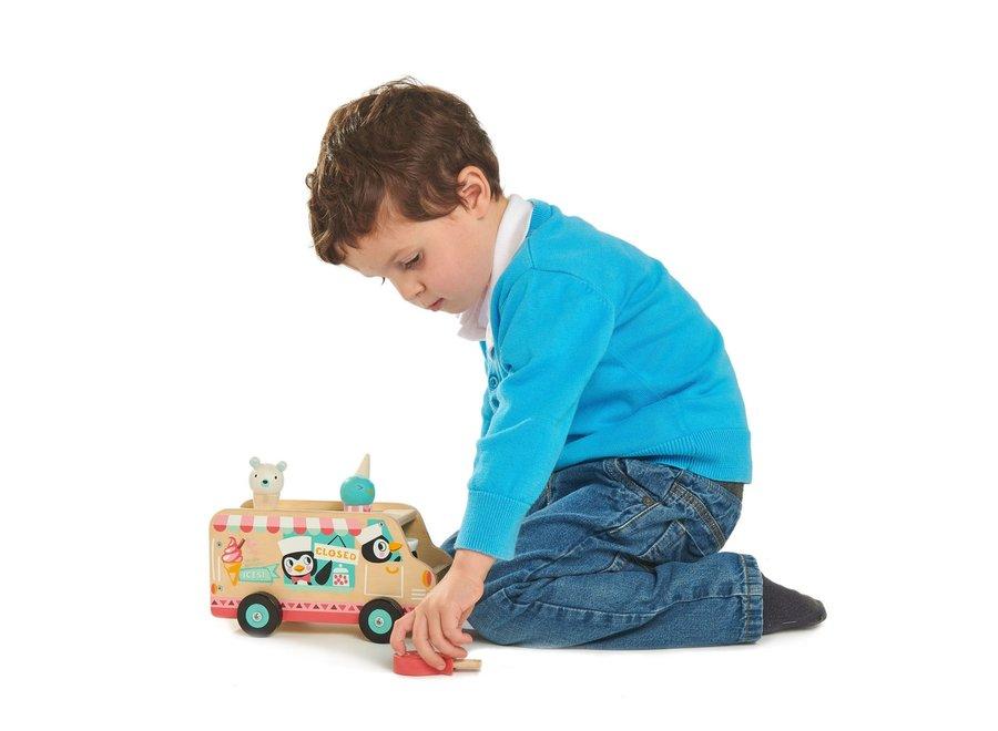 Houten ijscream truck Pinguins | Tender Leaf Toys