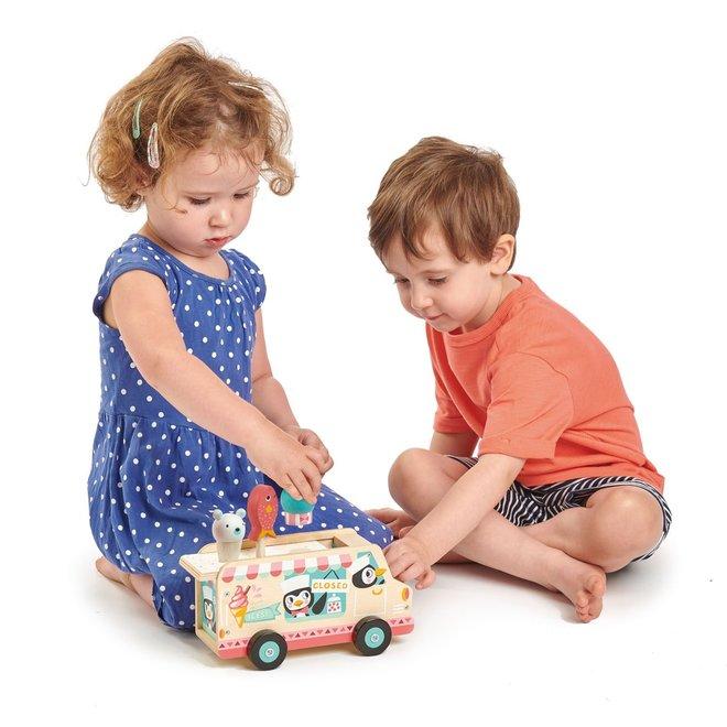 Houten ijscream truck Pinguins   Tender Leaf Toys
