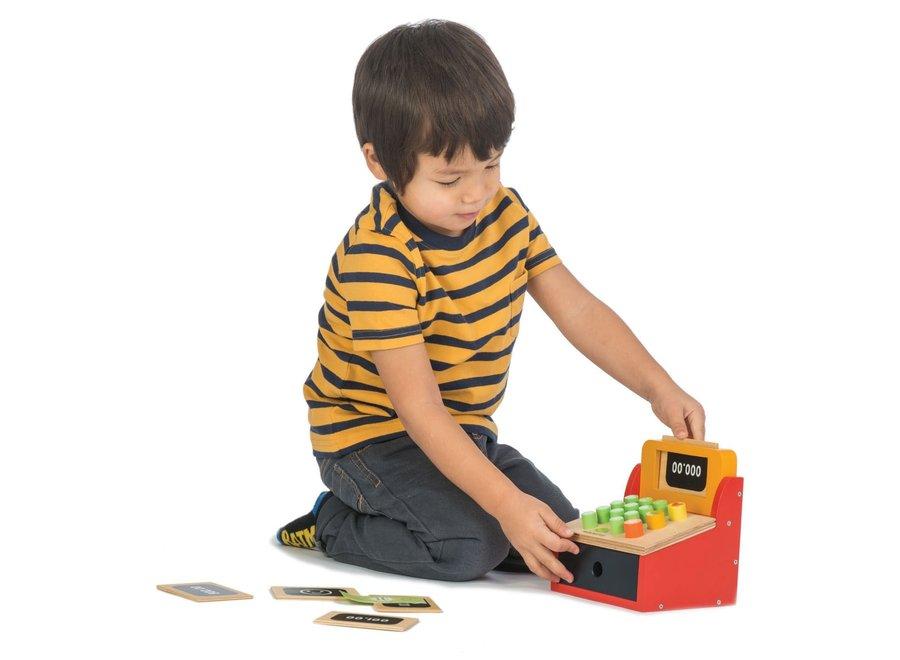 Houten kassa met geld | Tender Leaf Toys