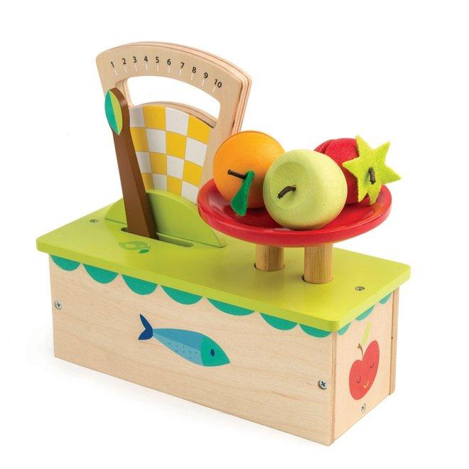 Houten weegschaal met fruit | Tender Leaf Toys
