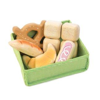Tender Leaf Toys Mandje met brood   Tender Leaf Toys
