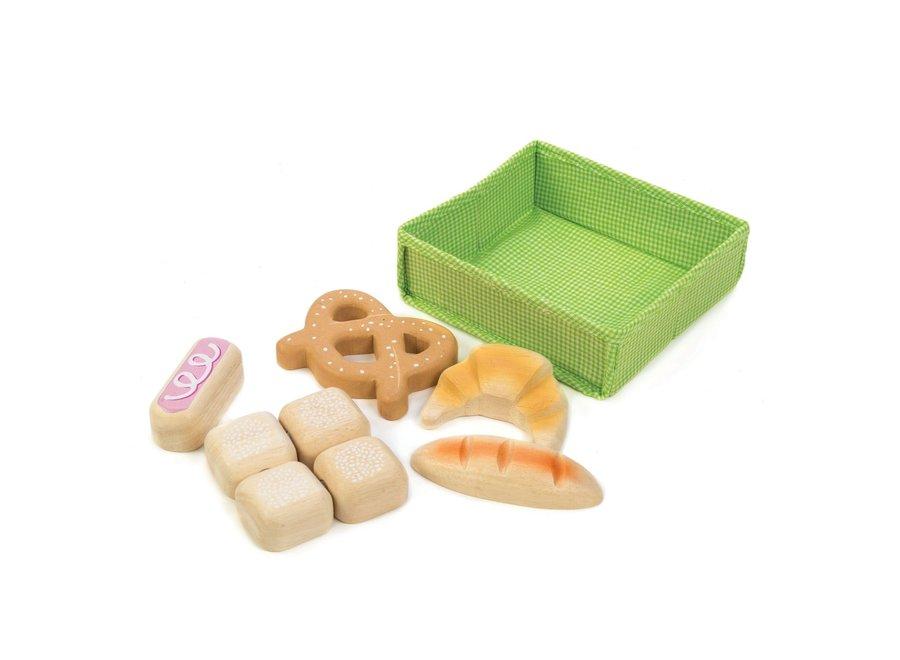 Mandje met brood | Tender Leaf Toys