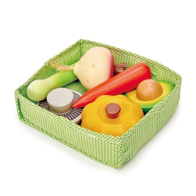 Mandje met groenten | Tender Leaf Toys