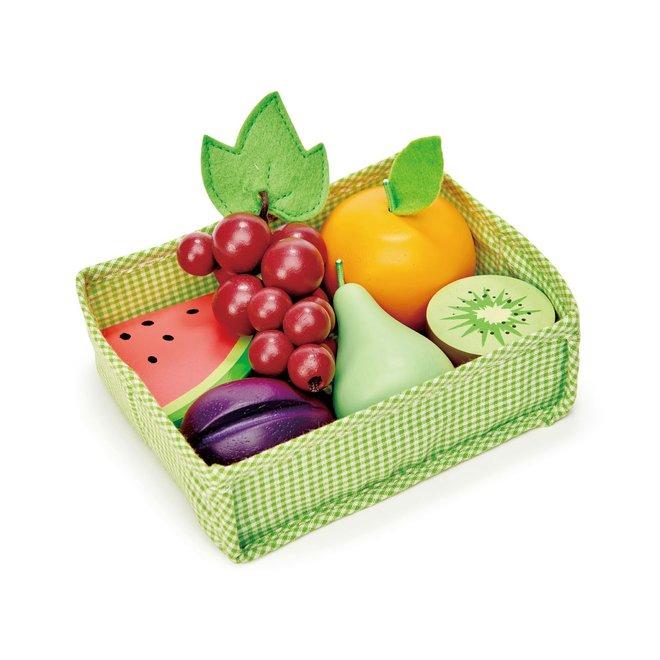 Mandje met fruit | Tender Leaf Toys
