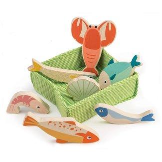 Tender Leaf Toys Mandje met vis | Tender Leaf Toys