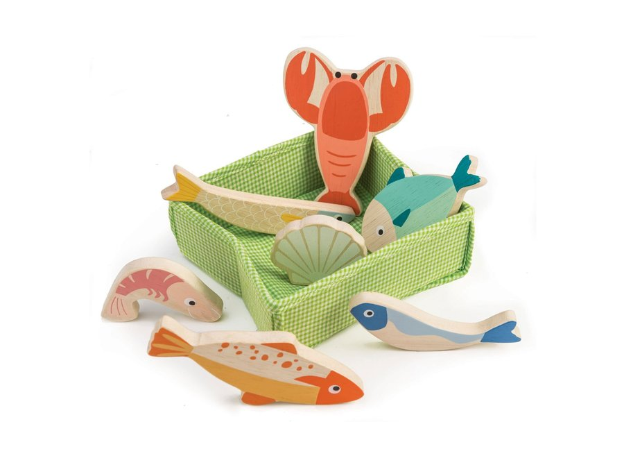 Mandje met vis | Tender Leaf Toys