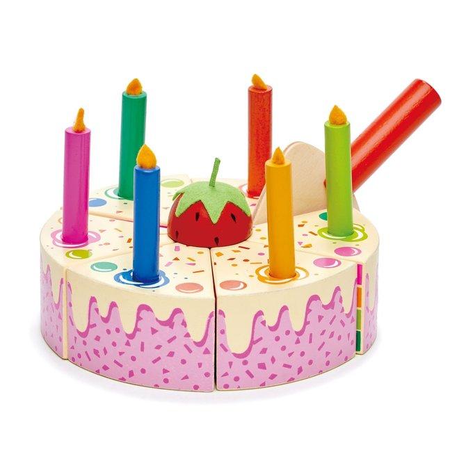 Houten verjaardagscake – regenboog | Tender Leaf Toys