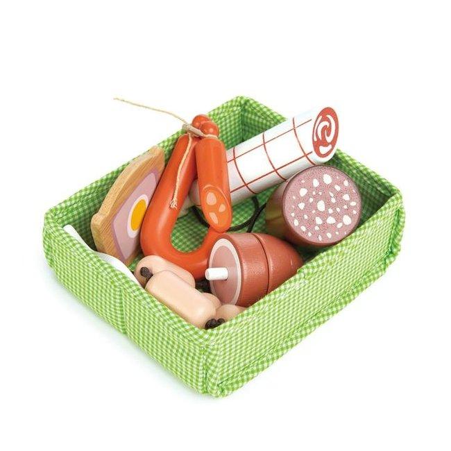 Tender Leaf Toys Mandje met vlees | Tender Leaf Toys