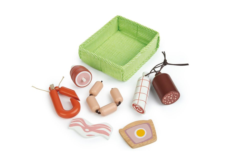 Mandje met vlees | Tender Leaf Toys