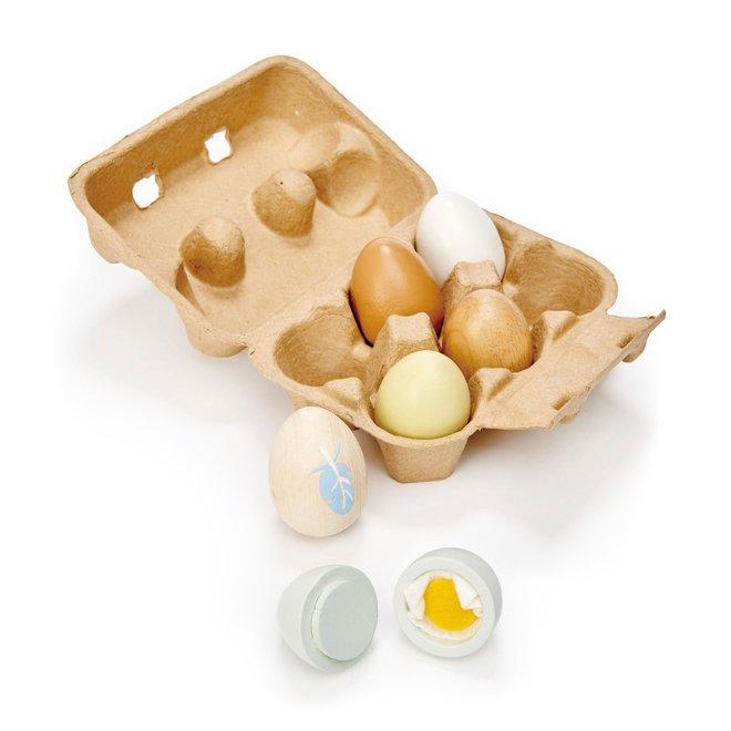 Eieren in hout | Tender Leaf Toys