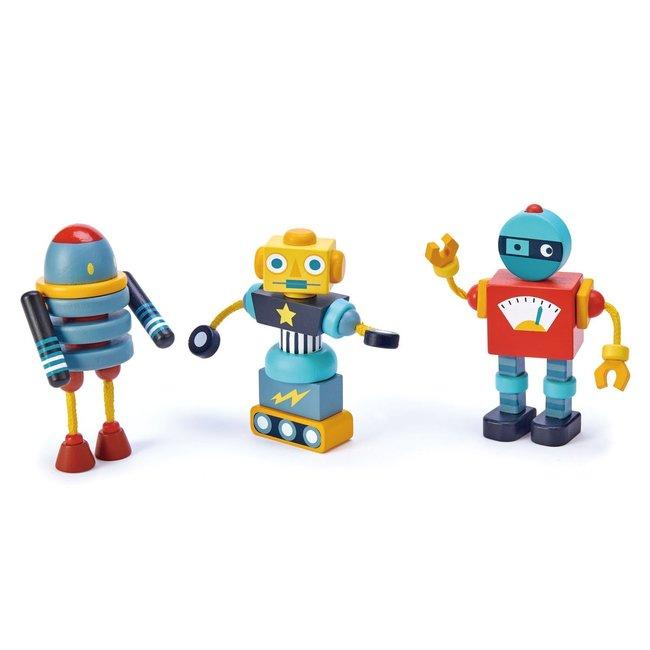 Tender Leaf Toys Houten constructieset Robots | Tender Leaf Toys