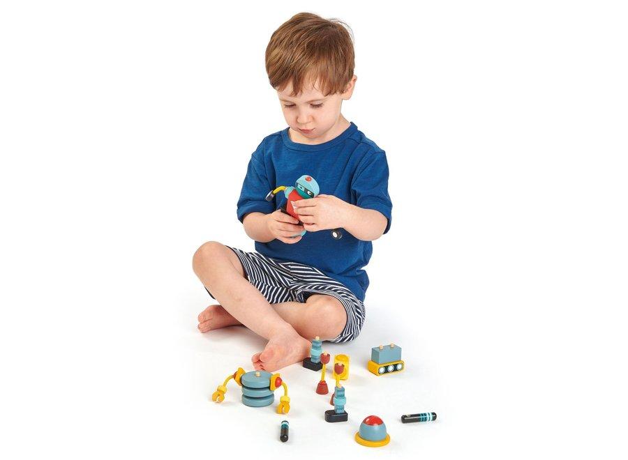 Houten constructieset Robots | Tender Leaf Toys