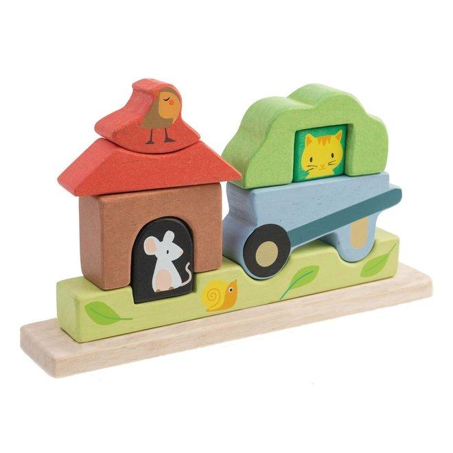 Puzzel magnetische tuin | Tender Leaf Toys