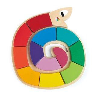 Tender Leaf Toys Legpuzzel: Kleur me gelukkig | Tender Leaf Toys