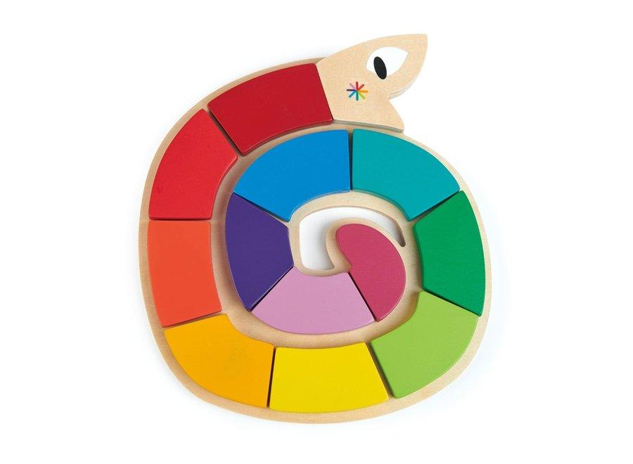 Legpuzzel: Kleur me gelukkig | Tender Leaf Toys