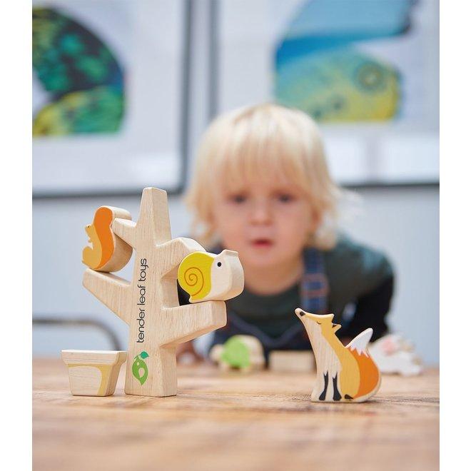 Stapelboom met lieve diertjes | Tender Leaf Toys