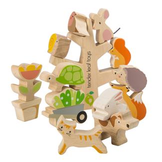 Tender Leaf Toys Stapelboom met lieve diertjes | Tender Leaf Toys