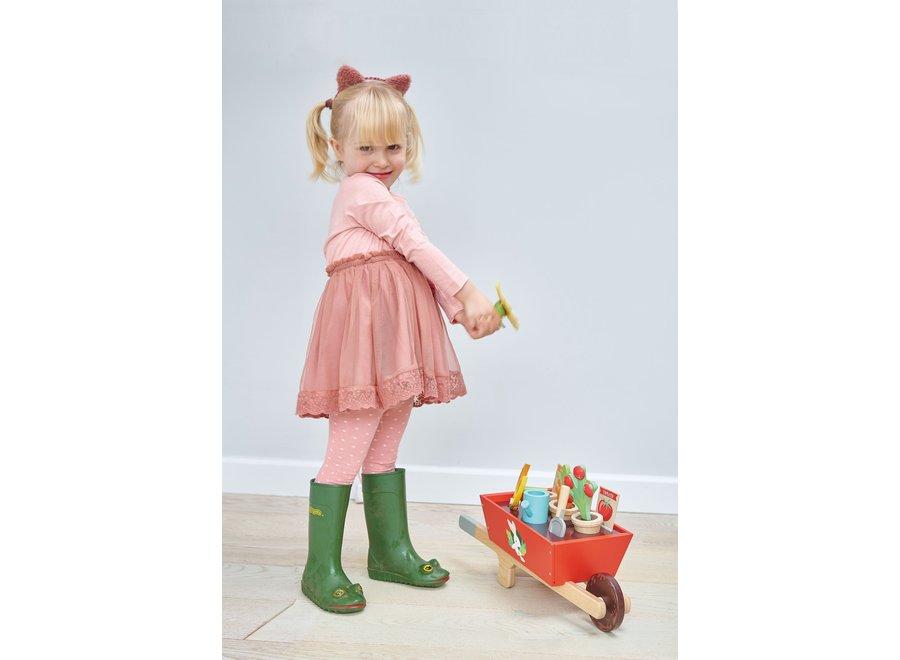 Houten kruiwagen met tuinset   Tender Leaf Toys