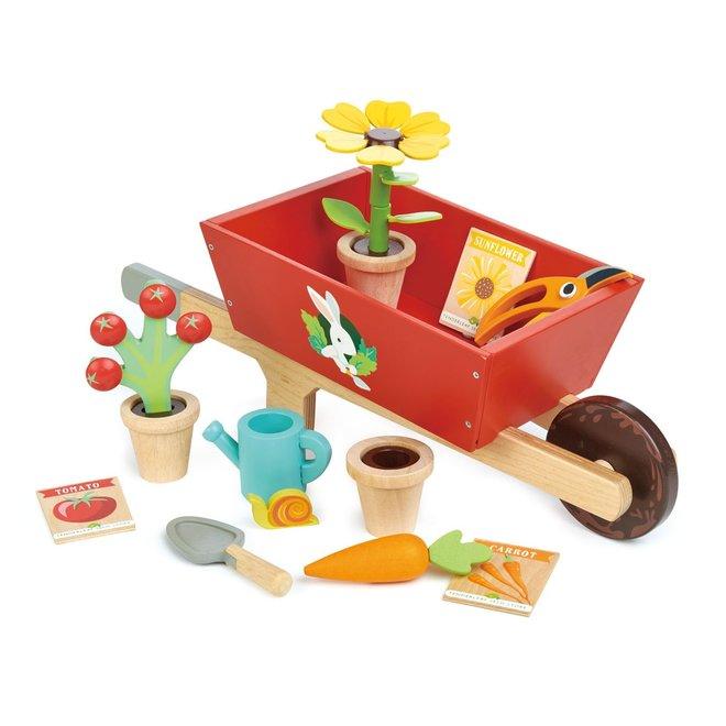 Houten kruiwagen met tuinset | Tender Leaf Toys