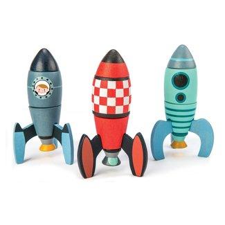 Tender Leaf Toys Houten constructieset Raketten | Tender Leaf Toys