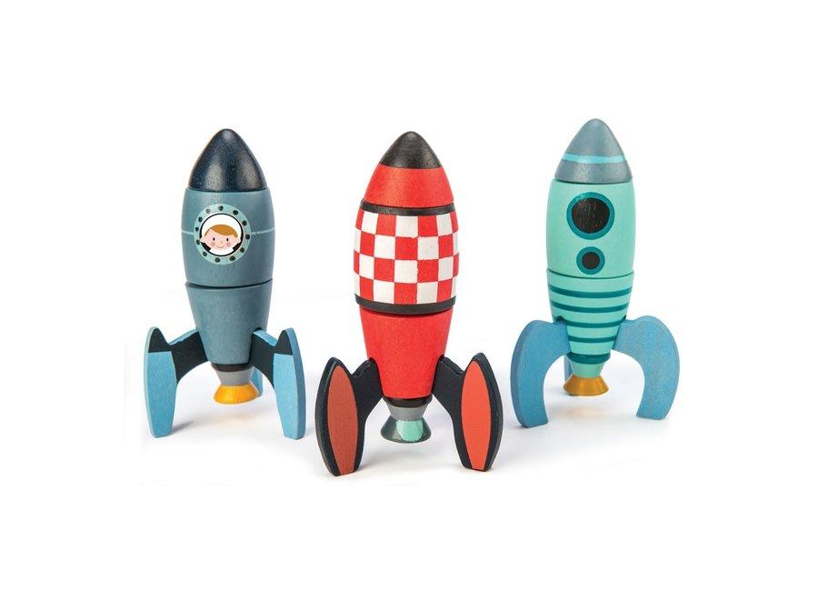 Houten constructieset Racketten | Tender Leaf Toys
