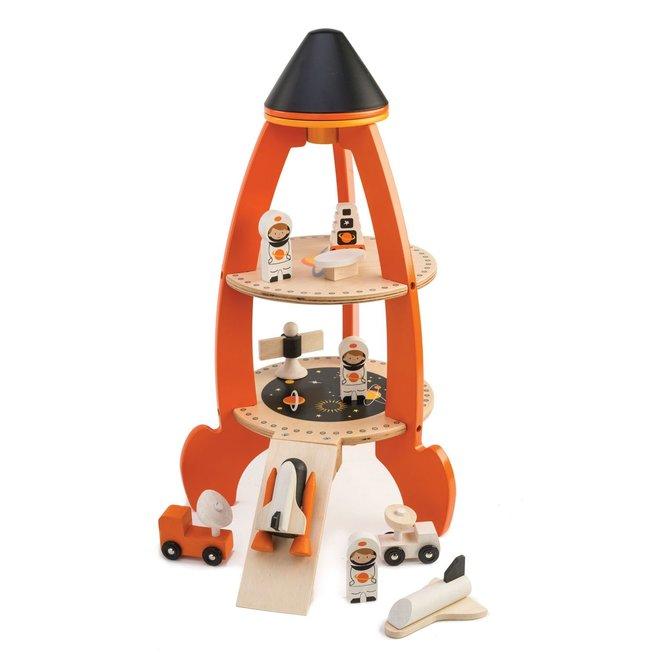 Houten Ruimteracket & Speelset | Tender Leaf Toys