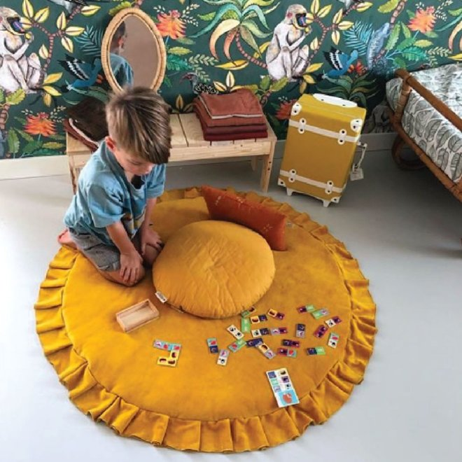 Velvet Speelmat - Mustard | WigiWama