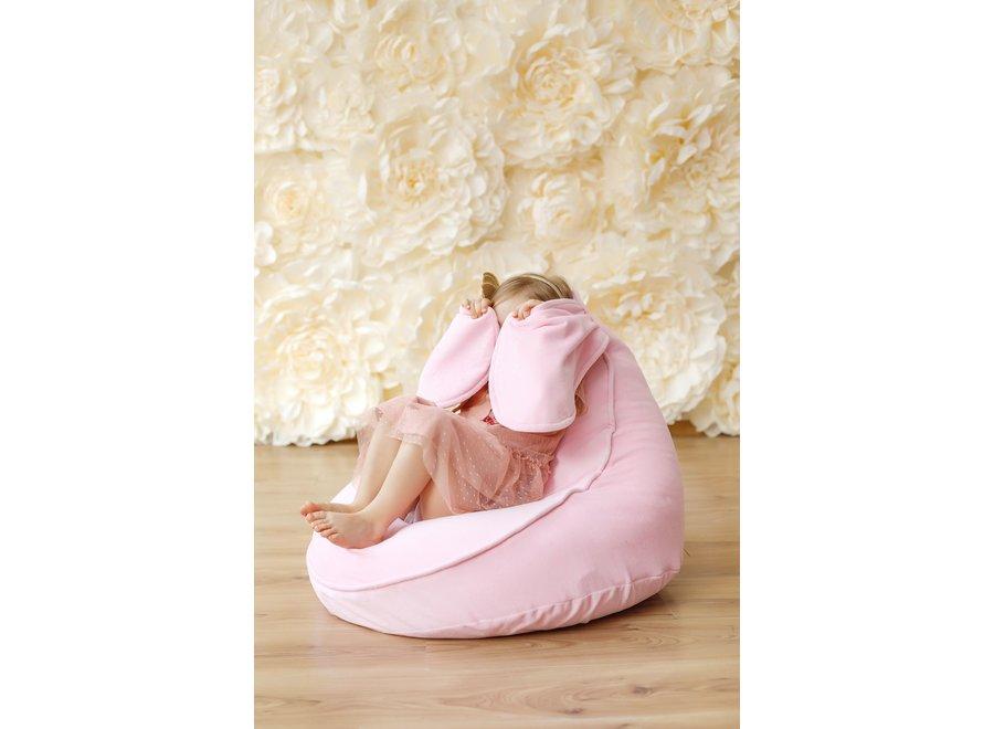 Zitzak Beanbag Velvet Bunny - Pink   WigiWama