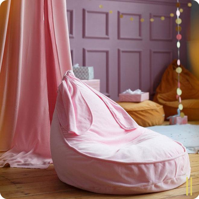 Zitzak Beanbag Velvet Bunny - Pink | WigiWama
