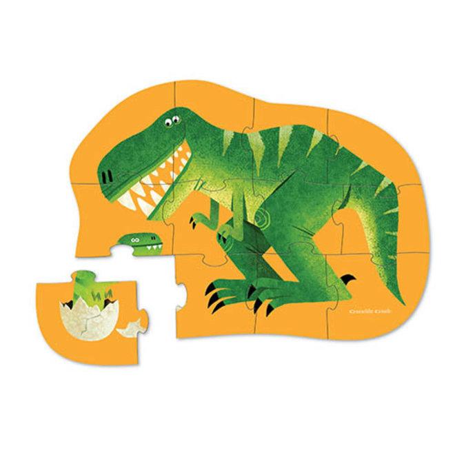 Mini Puzzel Dinosaurus 12st | Crocodile Creek