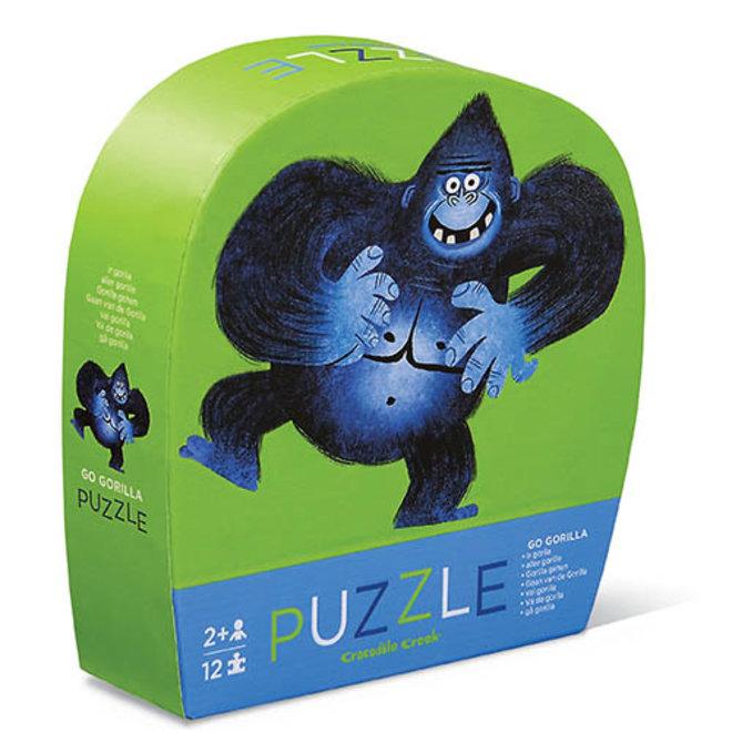 Mini Puzzel Gorilla 12st   Crocodile Creek
