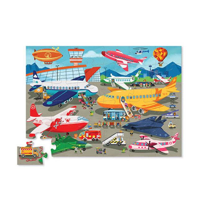 Busy Airport puzzel – 36 stukken | Crocodile Creek